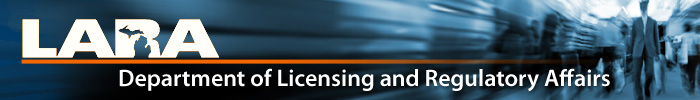 Michigan Licensing and Regulatory Affairs Banner Image
