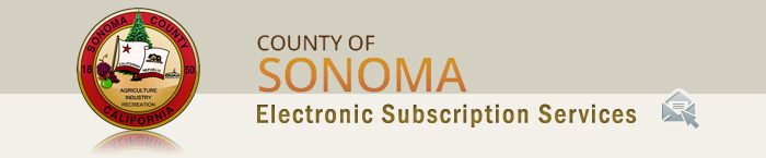 County of Sonoma Electronic Subscription Services