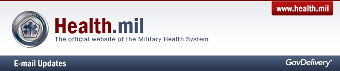 Sign up for e-mail updates from Health.mil