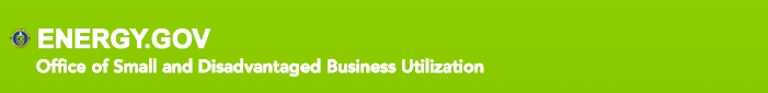 Department of Energy, Office of Small and Disadvantaged Business Utilization banner graphic
