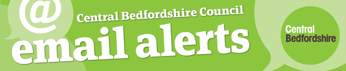 Central Bedfordshire Council email alerts