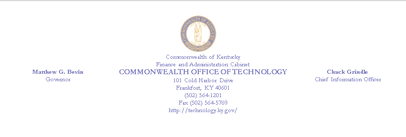 Commonwealth Office of Technology, Chuck Grindle CIO