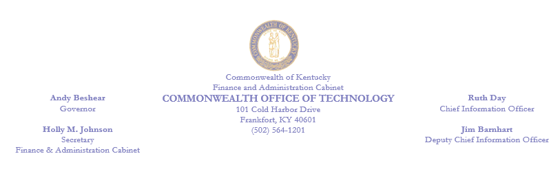 Commonwealth Office of Technology, Ruth Day CIO